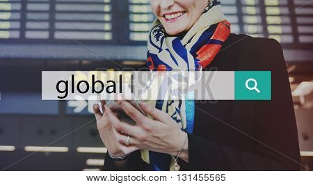 Global Globalization Exchange International Concept