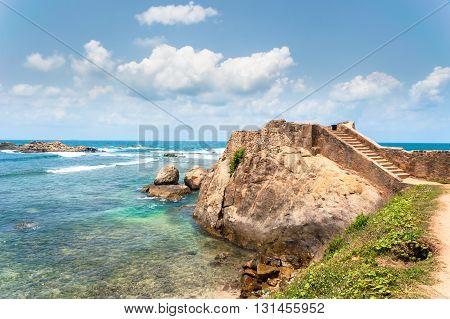 Beautiful beach landscape near Galle, Sri Lanka