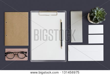 Stationary Document Paperwork Organization Concept