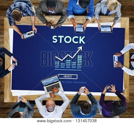 Stock Investment Banking Business Trade Exchange Concept
