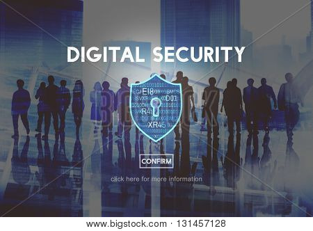 Digital Security Protection Privacy Interface Concept