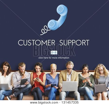 Customer Support Assistnace Help Advice Client Concept