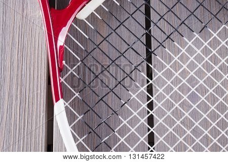 Red And White Tennis Racket