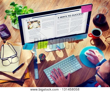 Website Homepage Online Internet Article Concept