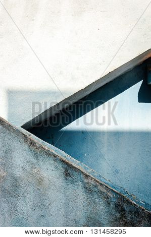 Geometrical architecture detail. Arrow shape. Chennai, India