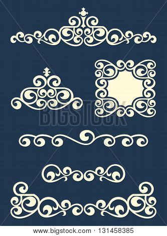 Swirl page or text dividers and decorations