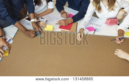 Educational Student Library Teamwork Concept