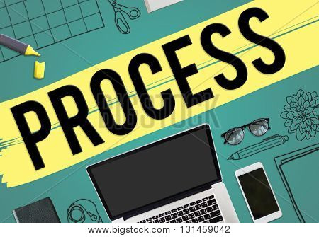 Process Strategy Tasks Business Concept