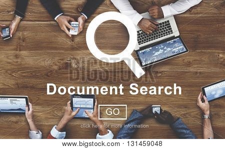 Document Search File Browse Look Concept