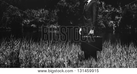Businessman Environment Relaxation Solitary Concept