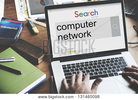 Computer Network Technology Online Internet Connect Concept