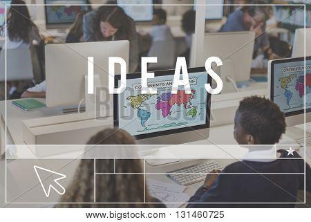 Ideas Imagine Thoughts Create Design Concept