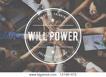Yes You Can Will Power Aspirations Confidence Concept