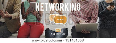 Networking Connection Global Communications Concept