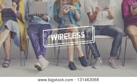 Wireless Connection Internet Network Router Concept
