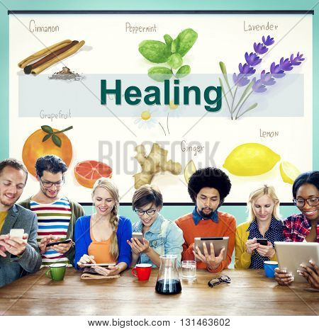 Health Care Treatment Vitamins Healing Concept