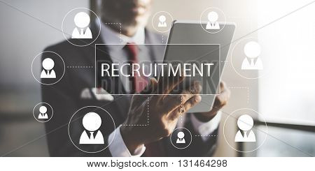 Recruitment Hiring Career job Employment Concept
