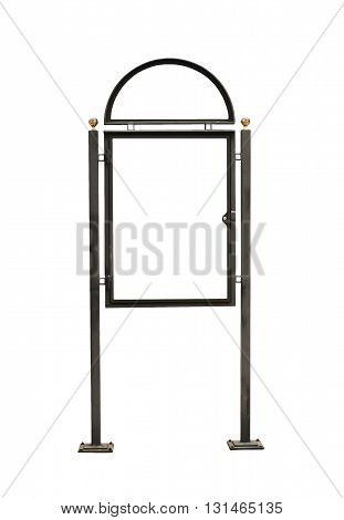 Advertising construction with white surface isolated on white background