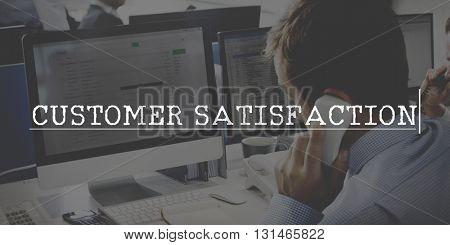 Customer Satisfaction Service Marketing Retail Concept