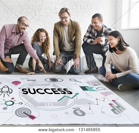 Success Victory Mission Motivation Concept