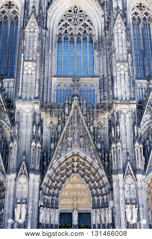 Cologne Cathedral Germany. contrast, dark, euro, high