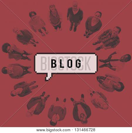 Blog Blogging Blogger Content Lifestyle Online Concept