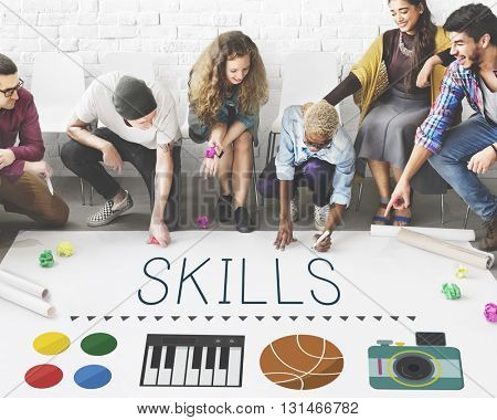 Skills Expertness Human Resources Intelligence Concept