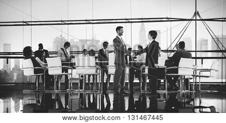 Business People Brainstorming Partnership Teamwork Support Concept