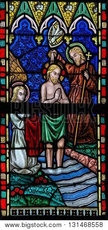 Stained Glass - Baptism Of Christ