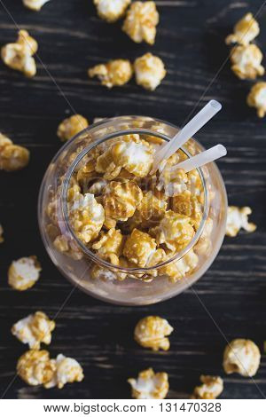 Cup Of Cacao With Caramel Popcorn
