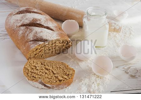 Whole Wheat Homemade Bread, Bio Ingredients, Healthy Food