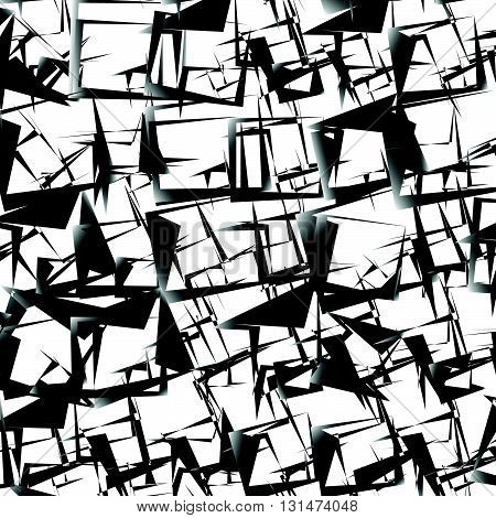 Abstract Edgy, Geometric Pattern. Chaotic Anguar Texture.