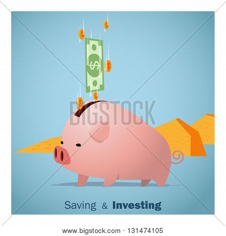 Business concept Idea  Saving and Investment ,vector,illustration