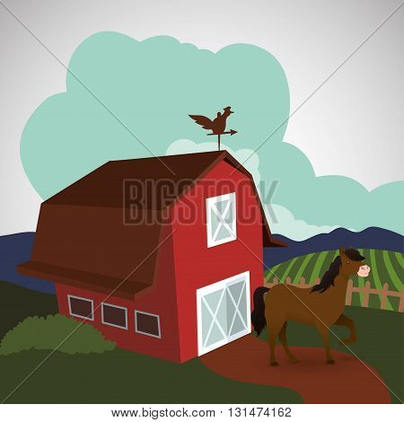 Farm concept with icon design, vector illustration 10 eps graphic.