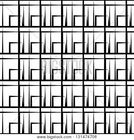 Irregular Grid, Mesh Pattern With Irregular Lines. Seamlessly Repeatable.