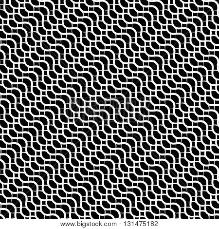 Repeatable Pattern With Wavy, Zig Zag Lines