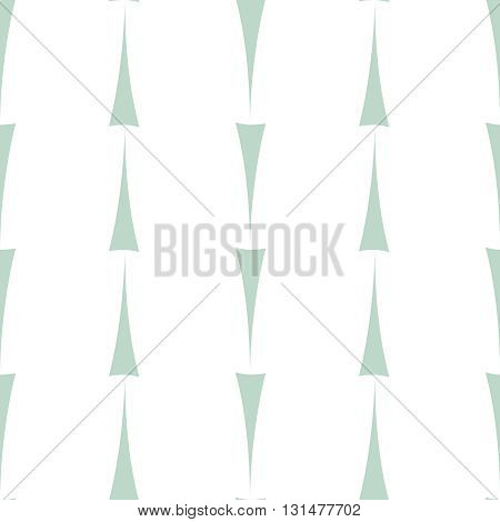 Tile vector pattern with mint green arrow print on white background
