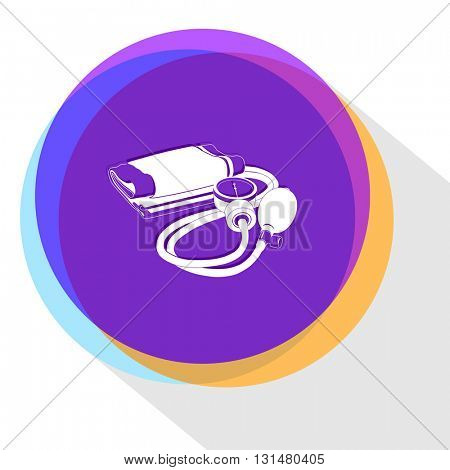 blood pressure. Internet template. Vector icon.