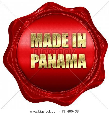 Made in panama, 3D rendering, a red wax seal