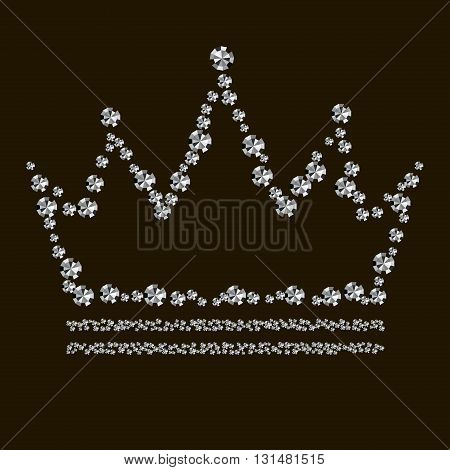 Abstract diamond crown on a black background