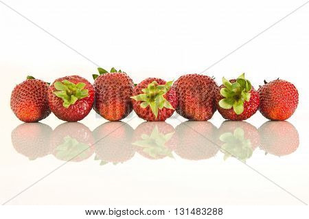 Strawberries Laid In A Row