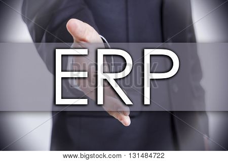 Enterprise Resource Planning Erp - Business Concept With Text