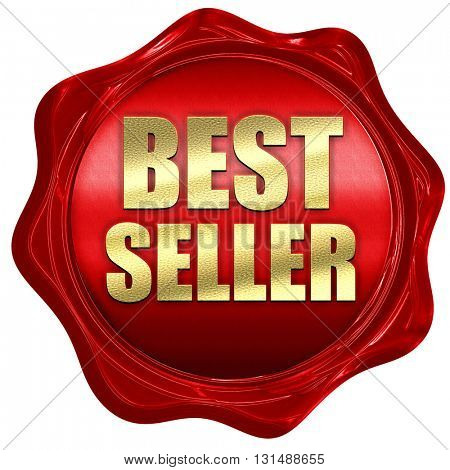 best seller, 3D rendering, a red wax seal
