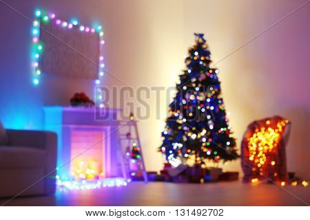 Decorated Christmas room