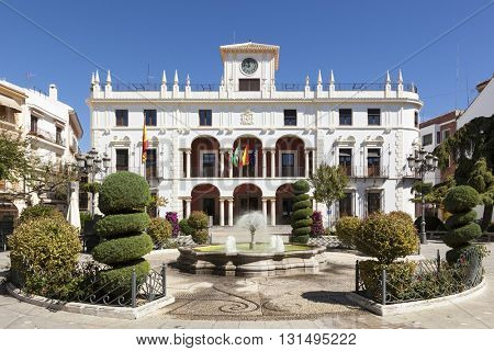 The town hall of Priego de Cordoba, Andalusia, Spain