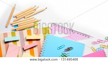 Set of stationery isolated on white