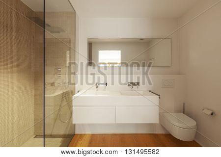 Interior of modern apartment bathroom