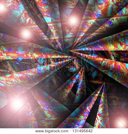 Abstract coloring tube red gradients background with visual lens flare   effects