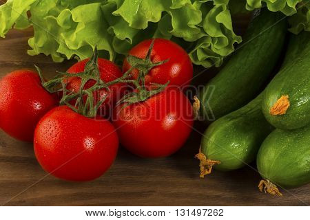 Healthy eating concept with fresh vegetables. Healthy eating concept. Tomato. Cucumber. Healthy eating. Ripe vegetables. Fresh vegetables. Cherry tomato.