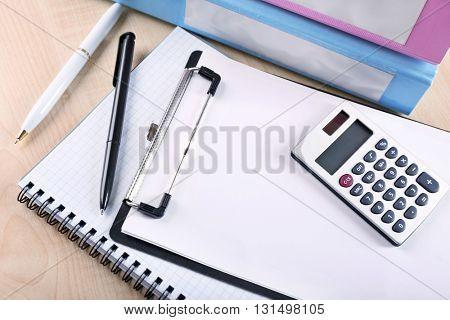 Office supply closeup